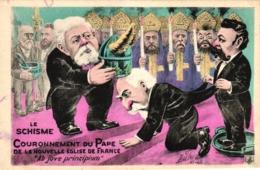 Le Schisme, Couronnement Du Pape, Sign. Mille - Satiriques