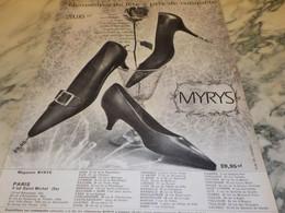 ANCIENNE PUBLICITE CHAUSSURE DE FETE  MYRYS  1960 - Habits & Linge D'époque