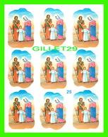 AUTOCOLLANTS - 9 COLLANTS DE LA SAINTE FAMILE, JOSEPH, MARIE ET JÉSUS EN PROMENADE - - Stickers