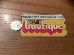 AUTOCOLLANT, Sticker «l'équipement D'une Renault C'est RENAULT Boutique» - Stickers
