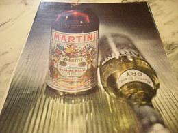 ANCIENNE PUBLICITE MARTINI APERITIF 1960 - Affiches
