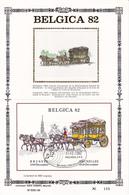 BELGICA 82 - Feuillet Or Sur SOIE/ Op Zijde - Format 16cmx24cm - BL 59 - Diligence - Cheval - 1981-90