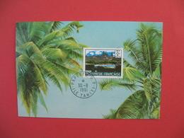Polynésie Française Carte Maximum  Papeete R.P. Ile De Tahiti  Du 30/8/1991 - Cartes-maximum