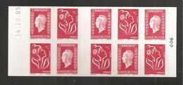 France, Carnet 1513, Daté, Carnet Neuf **, Non Plié, TTB, Carnet Marianne De Dulac, 3841, 3744a - Usage Courant