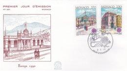 Monaco FDC 1990 Europa CEPT (DD22-30) - 1990