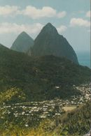 St. Lucia - The Twin Pitons - 2x Nice Stamps - St. Lucia