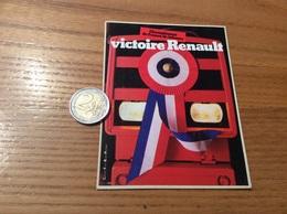 Grand AUTOCOLLANT, Sticker «Championnat De France De Labours - Victoire Renault » (tracteur) - Stickers
