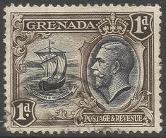 Grenada. 1934-36 KGV. 1d Used. P 12½ SG 136 - Grenada (...-1974)