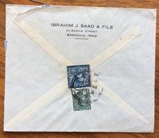 IRAQ  ENVELOPE COVER  AIR MAIL   FROM BAGHDAD  TO GOTHEMBURG SWEDEN SVERIGE SVEZIA  1943 - Iraq