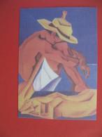 """Polynésie Française Carte Artistes Peintres - Philippe Dubois """" Le Rameur Au Chien Jaune """" - Polinesia Francese"""