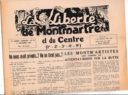 La Liberté De Montmartre Et Du Centre Journal Décembre  1959 - Programs