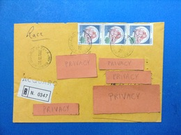 1982 ITALIA BUSTA RACCOMANDATA ACQUARO CZ CON STRISCIA CASTELLO 350 - 1981-90: Storia Postale