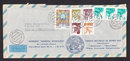 Brazil: Airmail Cover Itajai To Netherlands, 1985, 8 Stamps, Fruit, Food, Mosaic (minor Damage, See Scan) - Brazilië
