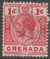 Grenada. 1913-22 KGV. 1d Used. Mult Crown CA  SG 91 - Grenada (...-1974)