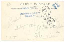 Cpa Nimes - Vue Générale ( Tampon Croix Rouge, Infirmerie Gare P.V. Nîmes ) - Nîmes