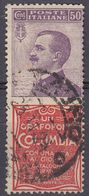 "ITALIA - 1924/25 - Francobollo Pubblicitario ""Columbia"", Sassone 11, Usato. - 1900-44 Victor Emmanuel III."