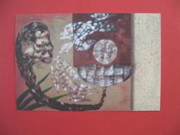 Polynésie Française Carte Artistes Peintres - Tableau En Nacre De Camélia Maraea - Polinesia Francese