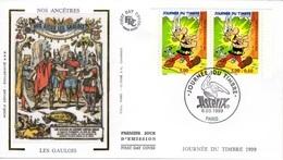 FRANCE 3225 3226 FDC Premier Jour ASTERIX & Obélix UDERZO & GOSCINNY Du Journal PILOTE Gaulois - Bandes Dessinées