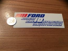 AUTOCOLLANT, Sticker «FORD - NOUVELLE SERIE 10 - DES TRACTEURS CONÇUS POUR DURER» - Stickers