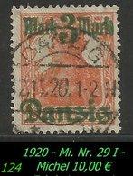 Mi. Nr. 29 I In Gebraucht - Geprüft - Danzig