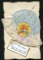 11350  Carte Sainte-Catherine : Bonnet Fantaisie En Tissu - Sainte-Catherine