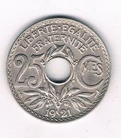 25 CENTIMES 1921 FRANKRIJK /1407/ - France