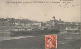 """71 Chalon Sur Saône  Chantiers Schneider Et Cie Le Remorqueur """"Mont Blanc"""" - Chalon Sur Saone"""