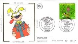 FRANCE 3569 FDC Premier Jour Marsupilami André FRANQUIN Journal Spirou Bédé Comics Cartoon Strip Paris Cadeau - Bandes Dessinées