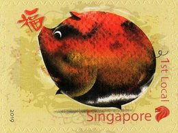 Singapore - 2019 - Zodiac Series - Lunar Year Of The Pig - Mint Self-adhesive Stamp - Singapur (1959-...)