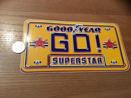 Grand AUTOCOLLANT, Sticker «GOOD YEAR - GO - SUPERSTAR» (pneu, Plaque Automobile) - Stickers