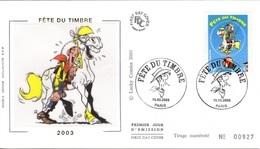 FRANCE 3546 FDC Premier Jour Lucky Luke MORRIS Joly Jumper Bédé Strip Comics Cartoon Western Far-West PAris - Bandes Dessinées