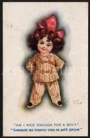 "CPA / Postcard / Artist Signed / Fred Spurgin / Fille / Girl / ""Comique"" Series No 640 / 1919 / 2 Scans - Spurgin, Fred"