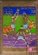 Olympiade Montreal 1976 Volleyball Äquatorial Guinee 875 In Bl.227 O 4€ Goldfolie Hb Bloc Sport Sheet Bf Ecu.Guinea - Summer 1976: Montreal