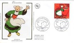 FRANCE 3778 FDC 1er Jour BECASSINE Anniversaire Comics Strip Cartoon Bédé Bande Dessinée - Bandes Dessinées