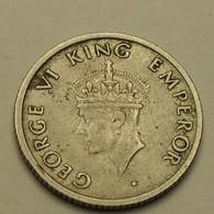 1974 - Indes Britanniques - India British - 1/4 RUPEE, B, GEORGE VI, KM 548 - India