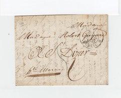 Sur Lettre AC CAD Paris Bureau B. Taxe Manuscrite. Cachet Destination St Dizier. (1111x) - 1801-1848: Précurseurs XIX