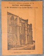 Livret Notice Historique De Saint Bonnet Le Chateau Loire - Livres, BD, Revues