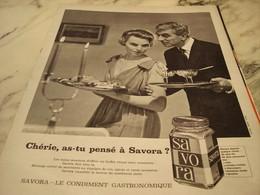 ANCIENNE PUBLICITE CONTIMENT GASTRONOMIQUE SAVORA 1960 - Affiches