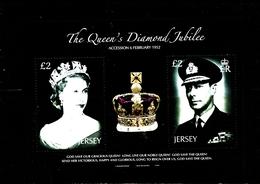 JERSEY - 2012  DIAMOND JUBILEE  MS  MINT NH - Jersey