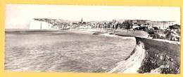 """Carte Postale Panoramique En Noir Et Blanc """" La Digue,la Plage Et La Falaise """" à MERS-LES-BAINS - Mers Les Bains"""