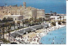 Afrique- TUNISIE  MONASTIR Le Ribat Et La Plage  *PRIX FIXE - Tunisia