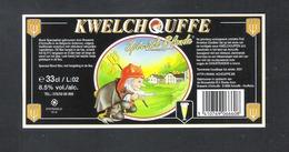 BRASSERIE D' ACHOUFFE - KWELCHOUFFE - SPECIALE BLONDE - BIERETIKET  (BE 078) - Beer