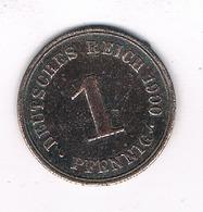 1 PFENNIG 1900 A DUITSLAND /1415/ - [ 2] 1871-1918 : Empire Allemand