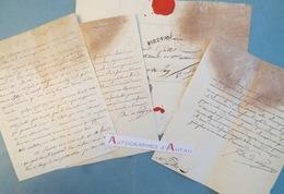 Lot 12 Lettres Du Comte Jules De POLIGNAC - Au Juge GALLET Au PUY Haute-Loire - Lettre Autographe L.A.S - Autographes