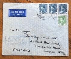 IRAQ  ENVELOPE COVER PAR AVION   FROM RAF HABBANIYA  TO LONDON   THE  29/8/38 PASSED BY  RAF CENSOR N. 287 - Iraq