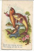 CPA, Th. Fête , Quand Vous Recevrez Cet Envoi -Vous Saurez Qu'il Vient De Moi ( Poissons ) , Ed. Fox , Paris - 1er Avril - Poisson D'avril