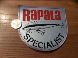 Grand AUTOCOLLANT, Sticker «RaPaLa SPECIALIST» (poisson, Pêche) - Stickers
