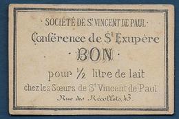 Toulouse - Société De St Vincent De Paul - BON Pour  1/2 Litre De Lait - Bons & Nécessité