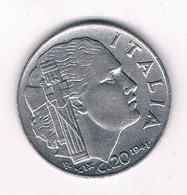 20 CENTESIMI  1941 R ITALIE /1420/ - 1861-1946 : Royaume