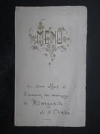 MENU (M1611) BELGIQUE (2 Vues) 1939 - Marguerite Et André - Menus
